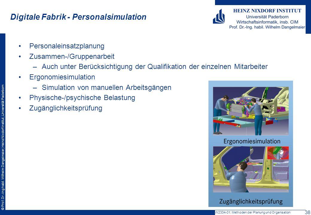 Digitale Fabrik - Personalsimulation
