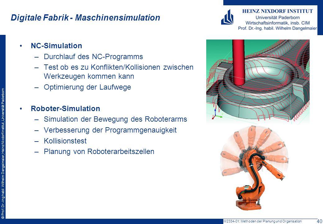 Digitale Fabrik - Maschinensimulation