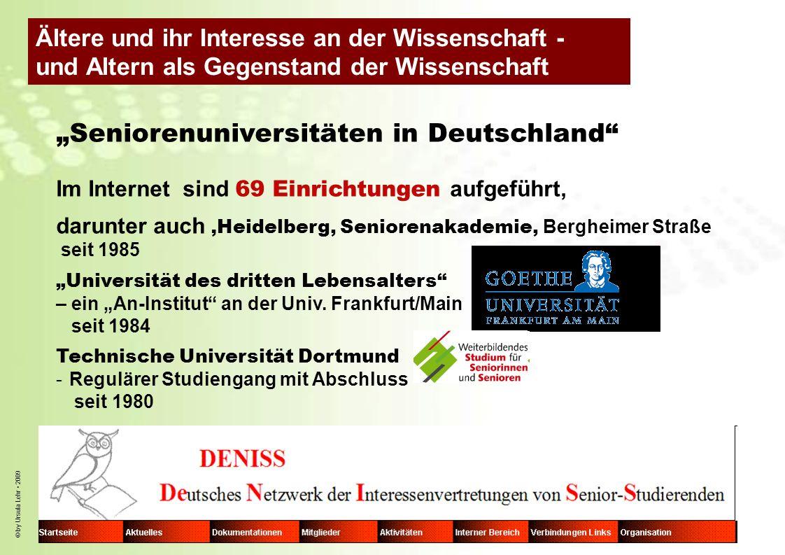 """""""Seniorenuniversitäten in Deutschland"""