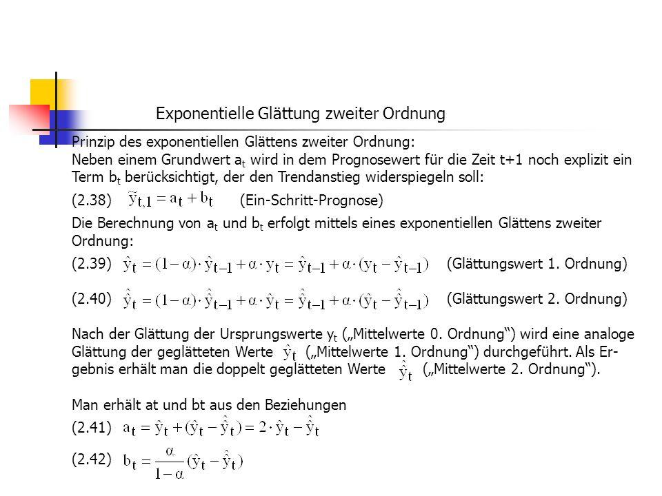 Exponentielle Glättung zweiter Ordnung