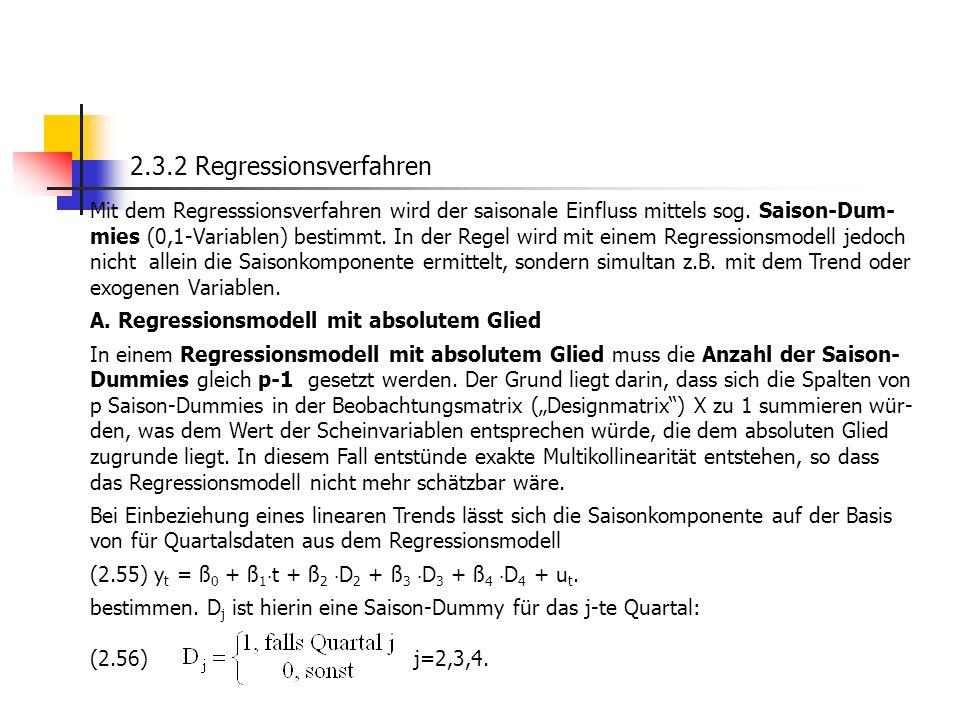 2.3.2 Regressionsverfahren