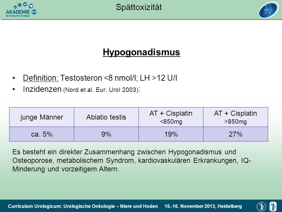 Hypogonadismus Spättoxizität