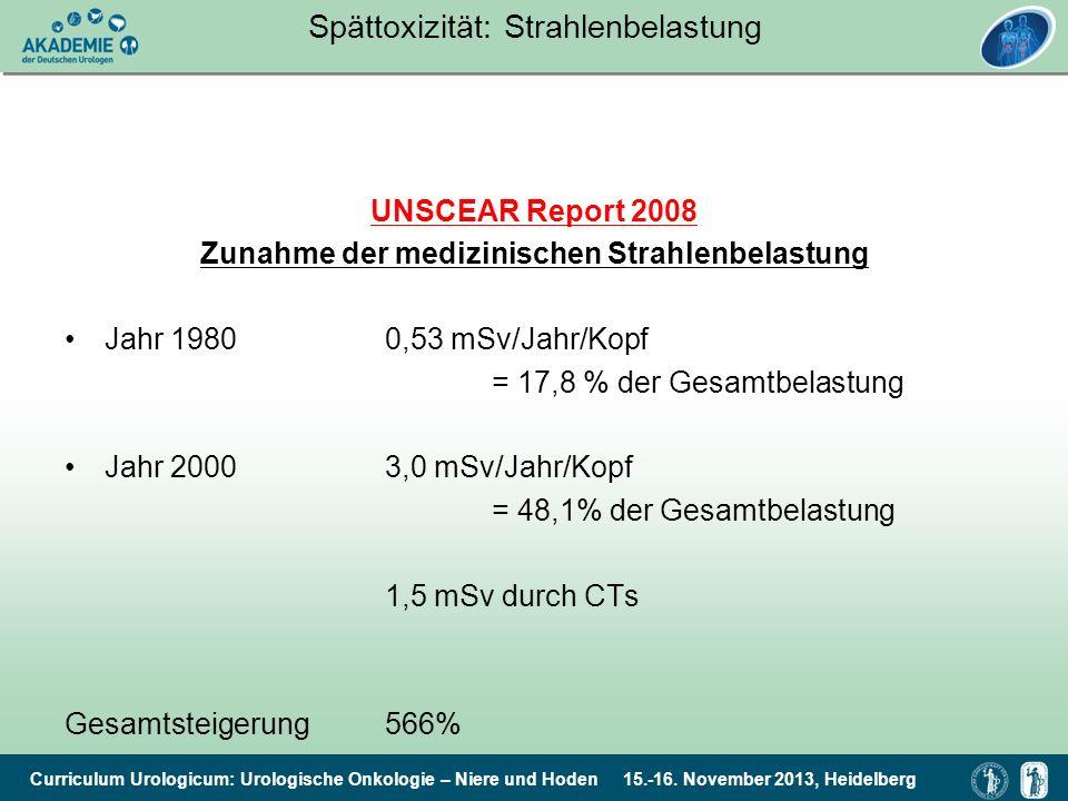 Spättoxizität: Strahlenbelastung