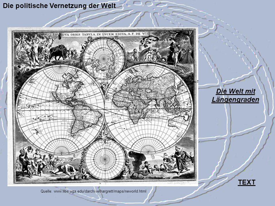 Die Welt mit Längengraden