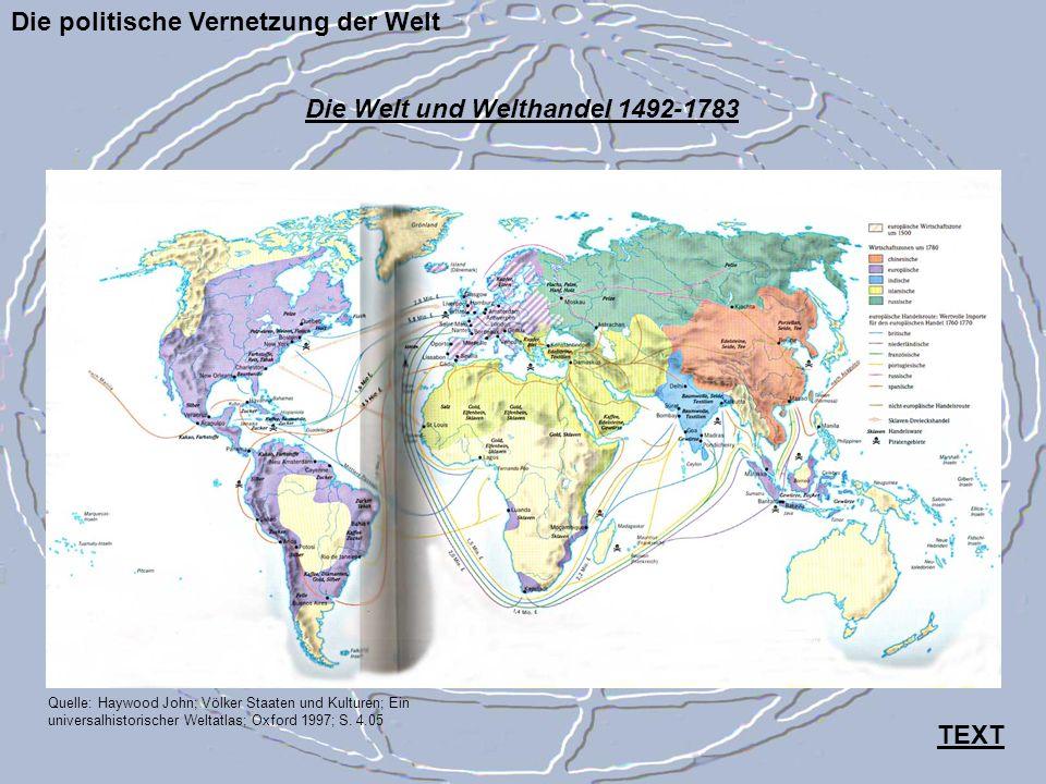 Die Welt und Welthandel 1492-1783