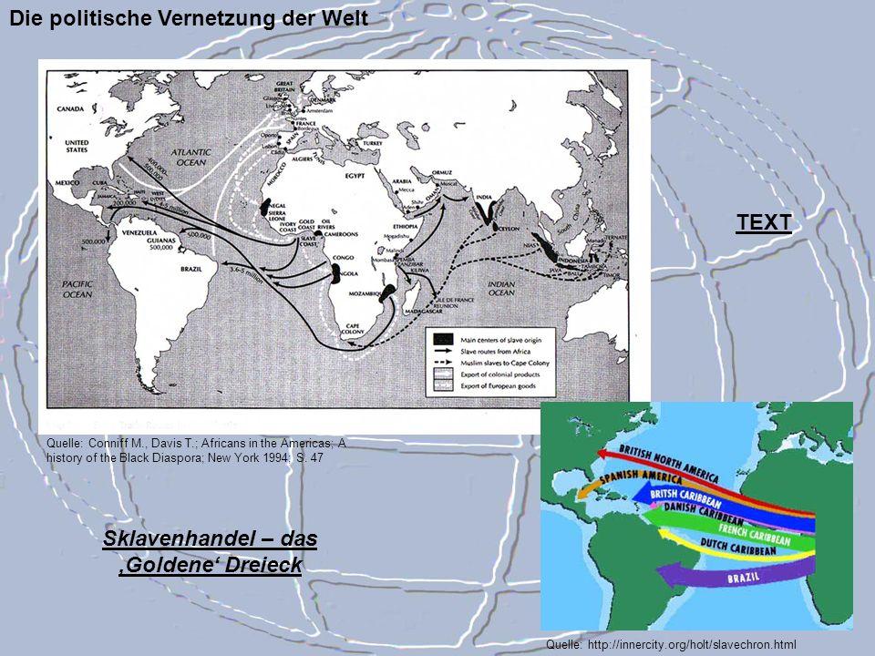 Sklavenhandel – das 'Goldene' Dreieck
