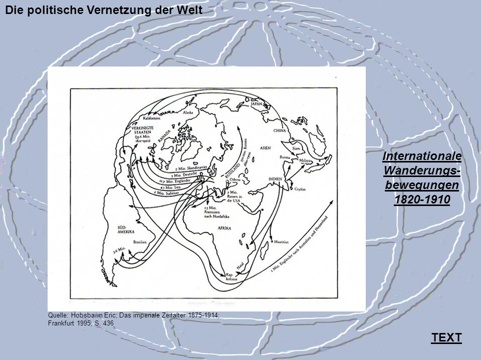 Internationale Wanderungs- bewegungen 1820-1910