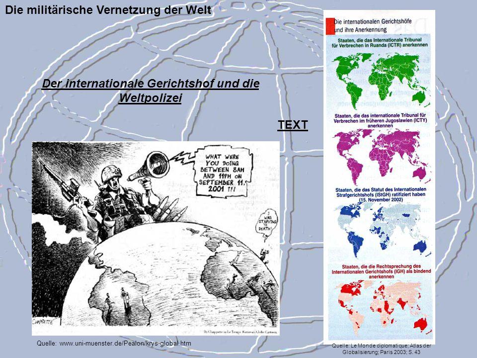 Der internationale Gerichtshof und die Weltpolizei