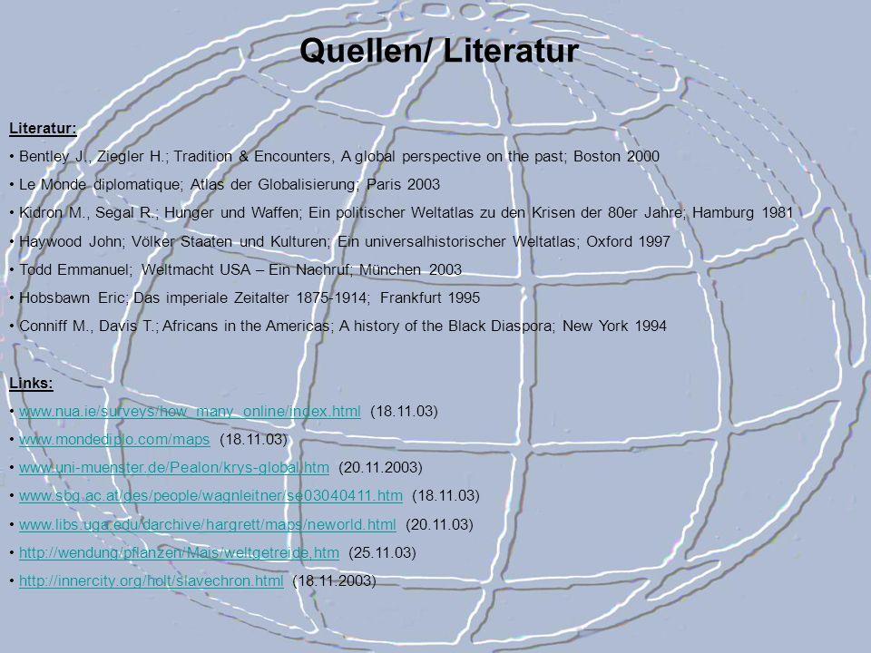 Quellen/ Literatur Literatur: