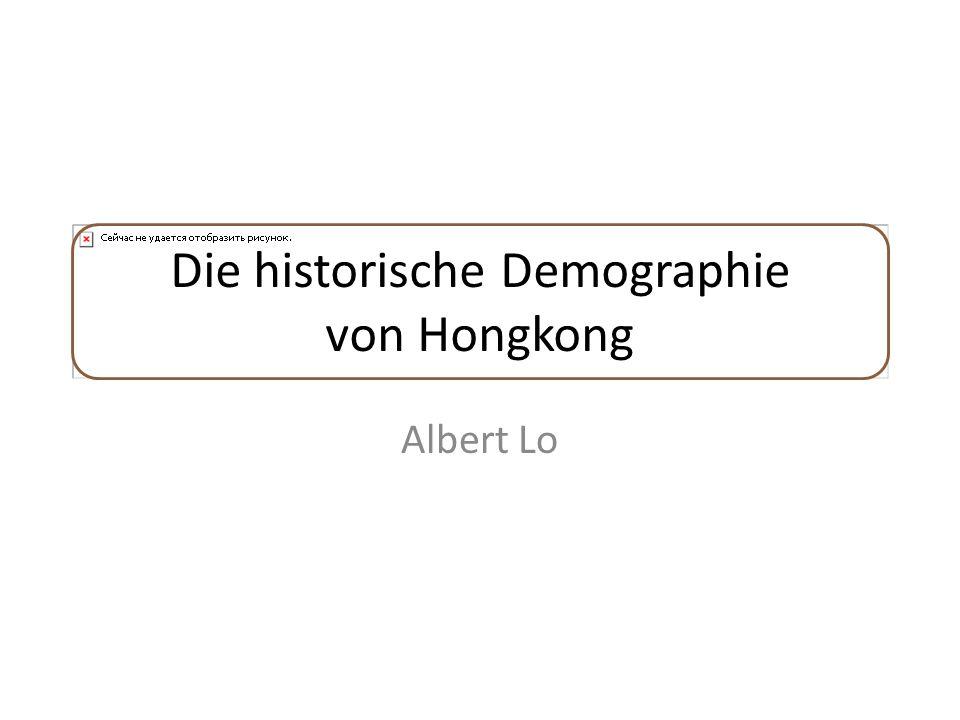 Die historische Demographie von Hongkong