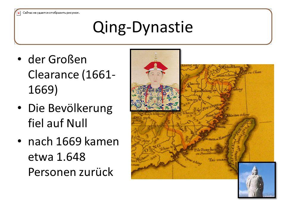 Qing-Dynastie der Großen Clearance (1661-1669)