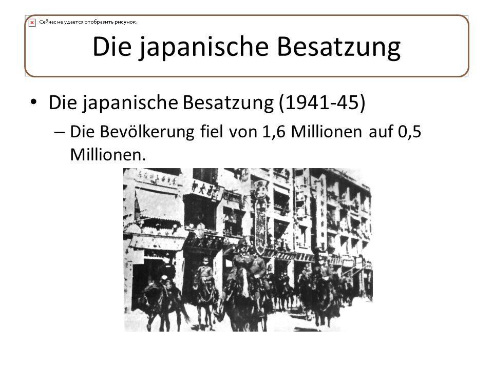 Die japanische Besatzung