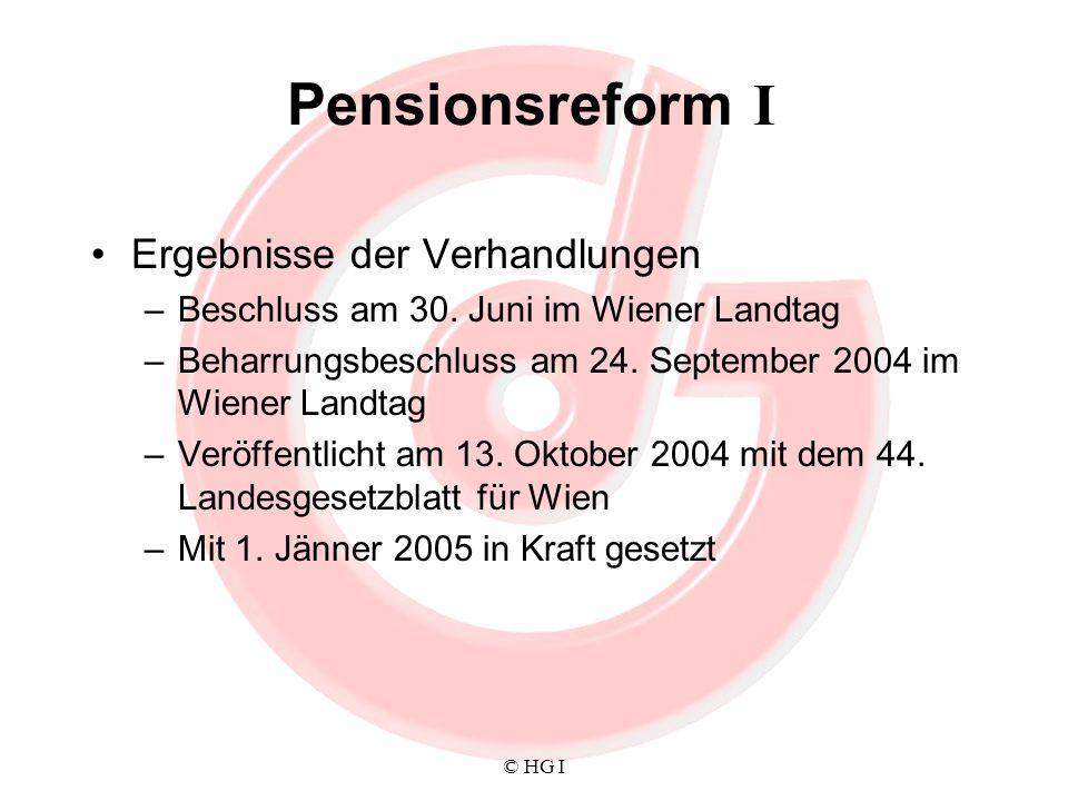 Pensionsreform I Ergebnisse der Verhandlungen