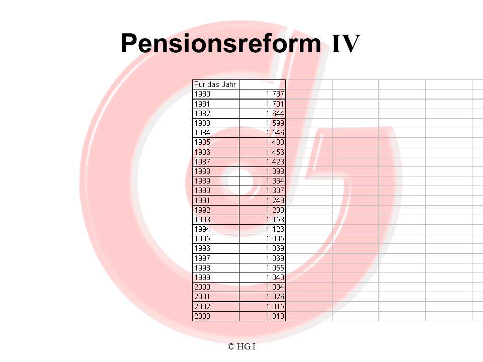 Pensionsreform IV © HG I
