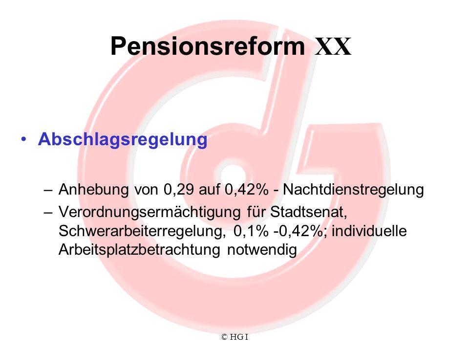 Pensionsreform XX Abschlagsregelung