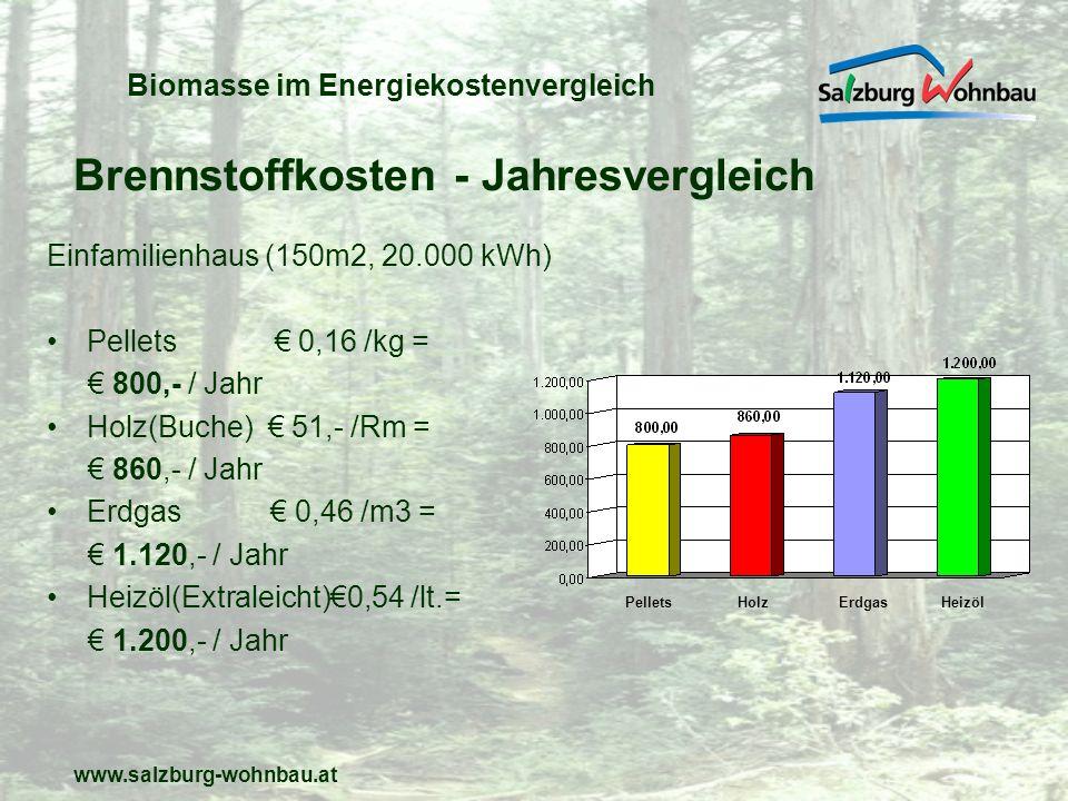 Biomasse im Energiekostenvergleich