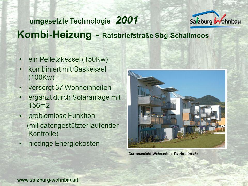 umgesetzte Technologie 2001
