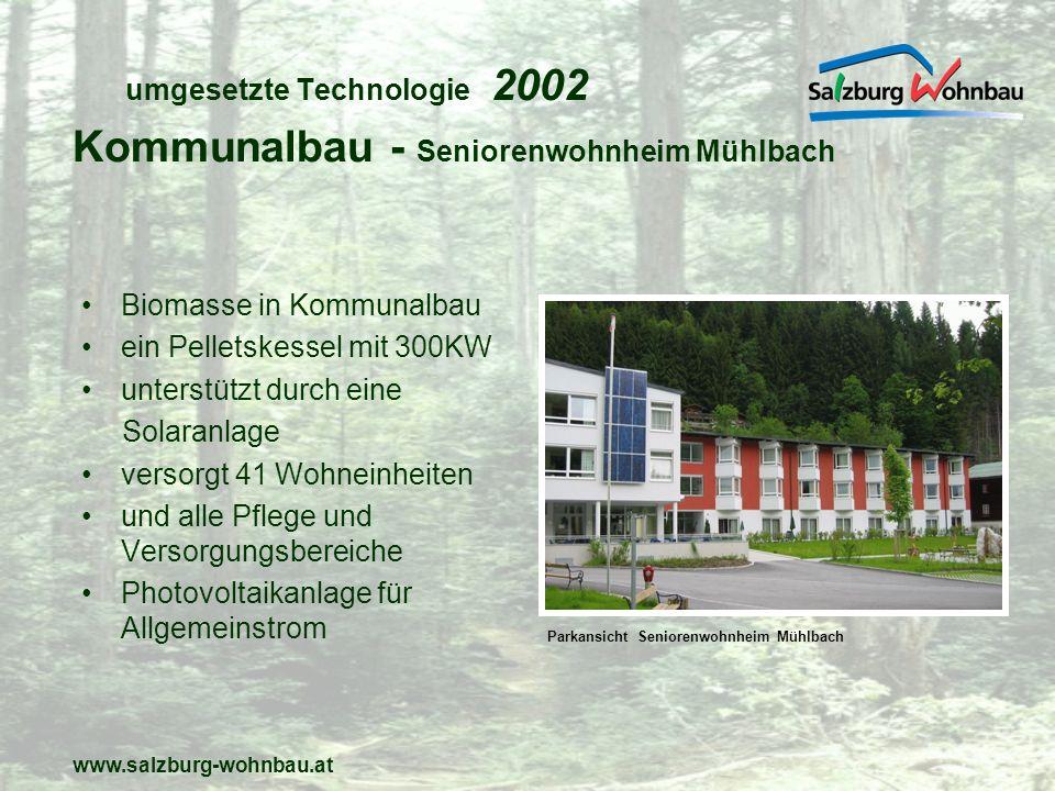 umgesetzte Technologie 2002
