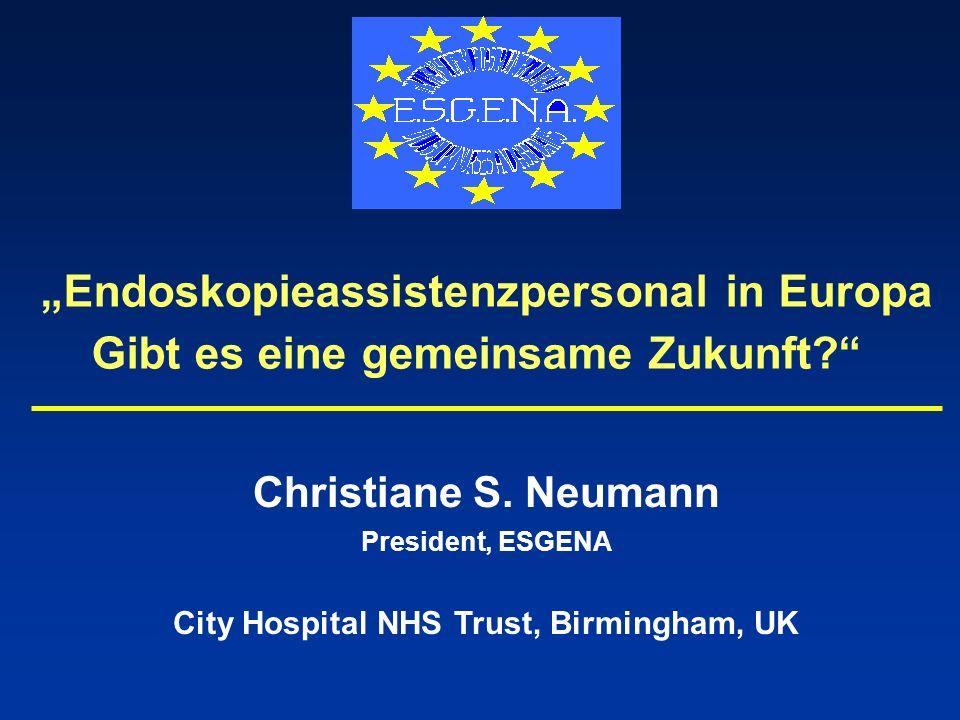 """""""Endoskopieassistenzpersonal in Europa"""