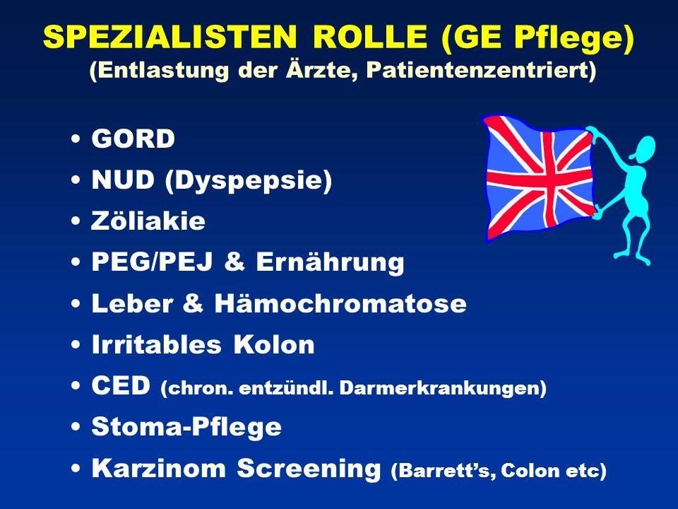 SPEZIALISTEN ROLLE (GE Pflege) (Entlastung der Ärzte, Patientenzentriert)