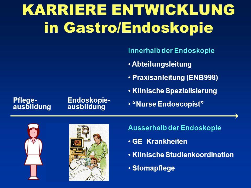 KARRIERE ENTWICKLUNG in Gastro/Endoskopie