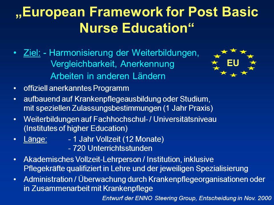"""""""European Framework for Post Basic Nurse Education"""