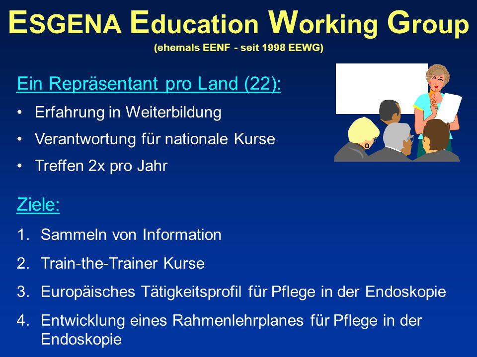 ESGENA Education Working Group (ehemals EENF - seit 1998 EEWG)