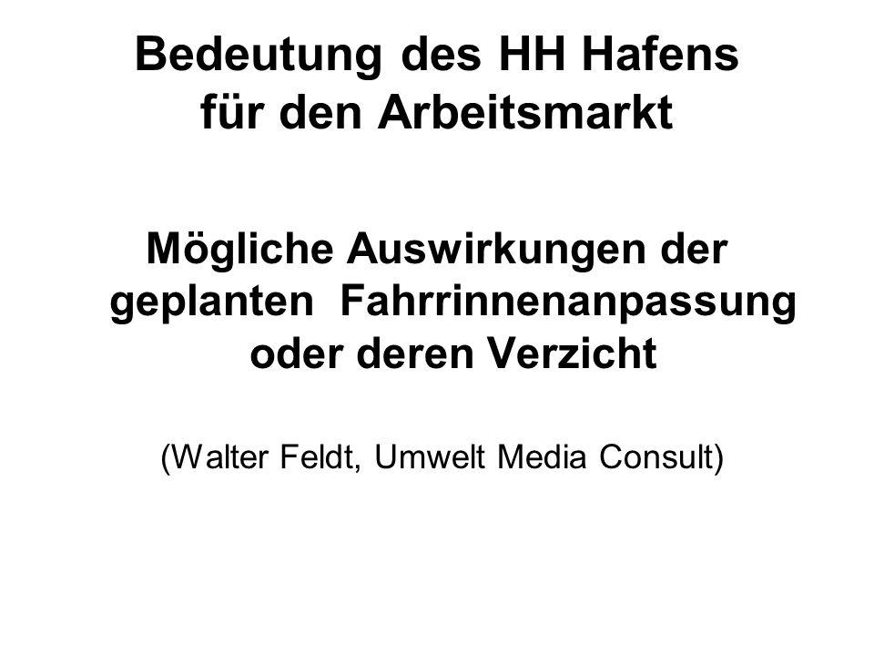 Bedeutung des HH Hafens für den Arbeitsmarkt