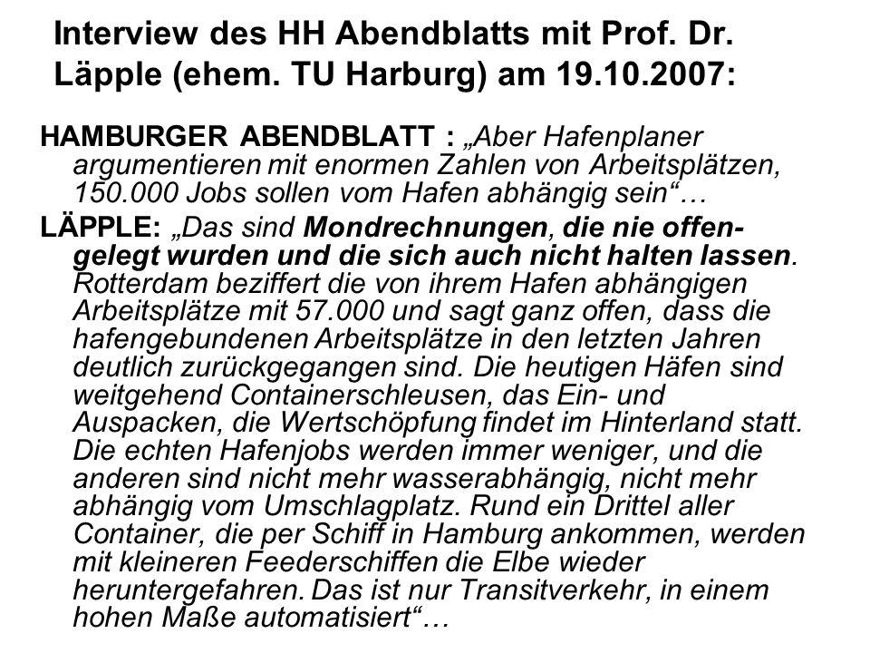 Interview des HH Abendblatts mit Prof. Dr. Läpple (ehem