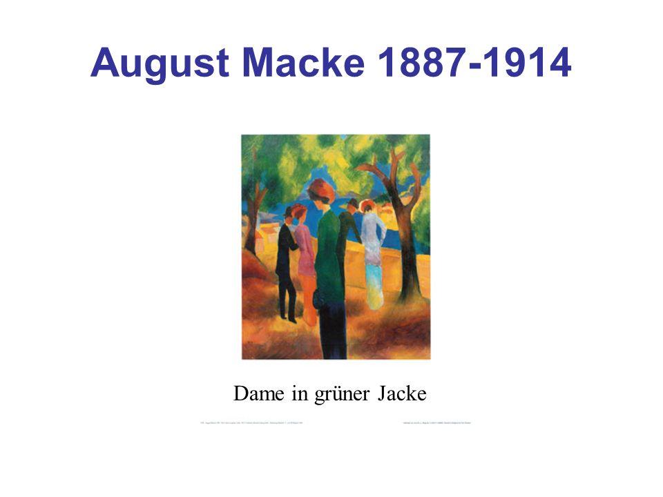 August Macke 1887-1914 Dame in grüner Jacke