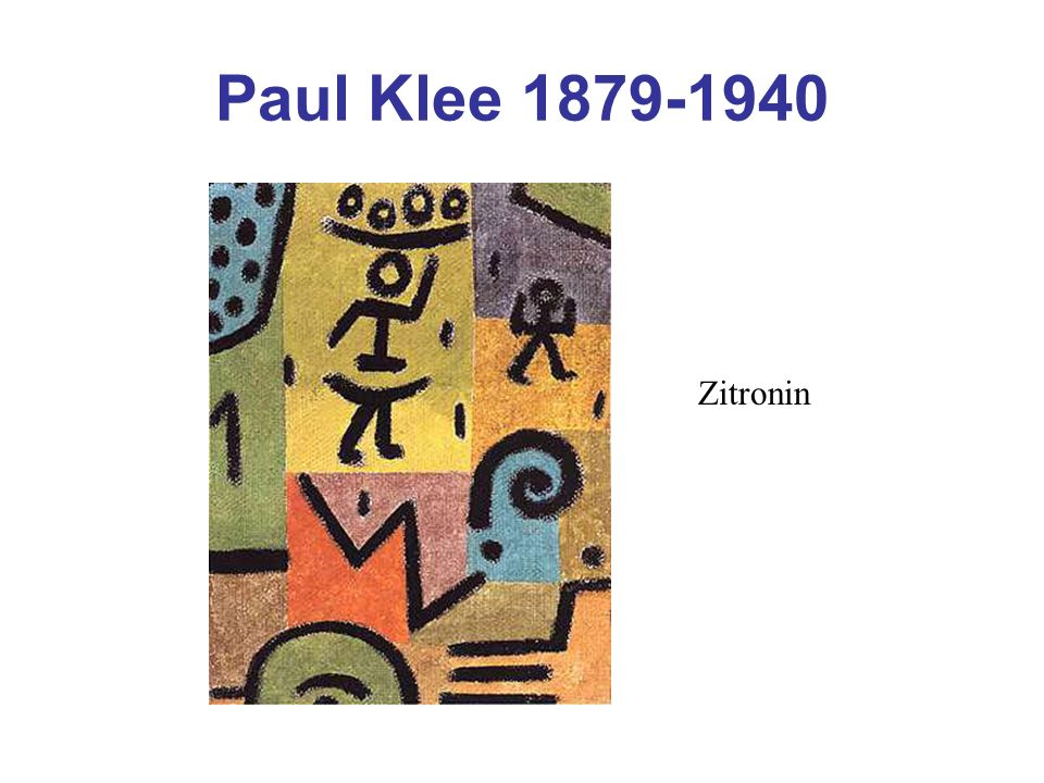 Paul Klee 1879-1940 Zitronin