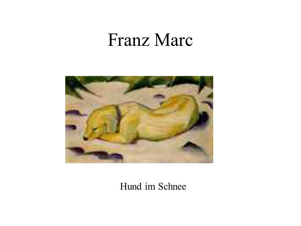 Franz Marc Hund im Schnee