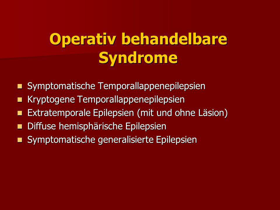 Operativ behandelbare Syndrome