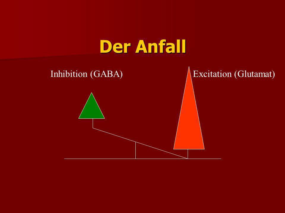 Der Anfall Inhibition (GABA) Excitation (Glutamat)