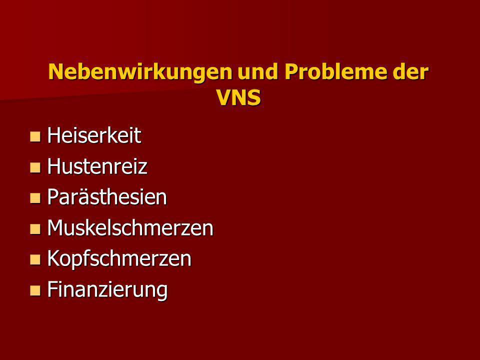 Nebenwirkungen und Probleme der VNS