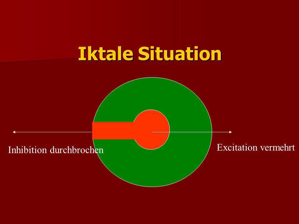 Iktale Situation Excitation vermehrt Inhibition durchbrochen