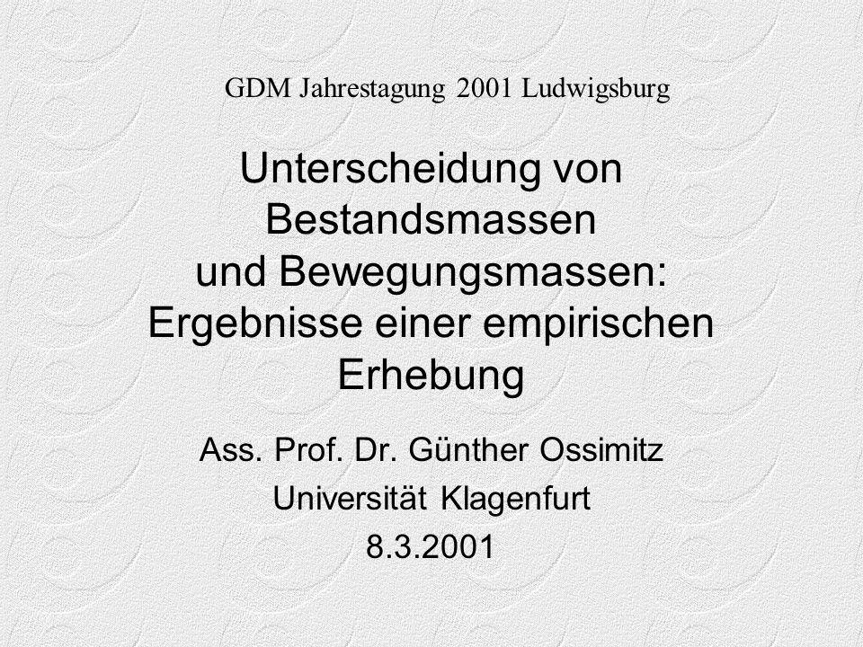Ass. Prof. Dr. Günther Ossimitz Universität Klagenfurt 8.3.2001