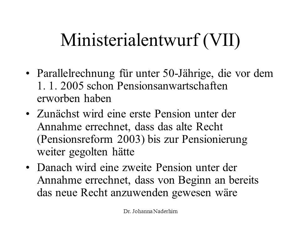 Ministerialentwurf (VII)