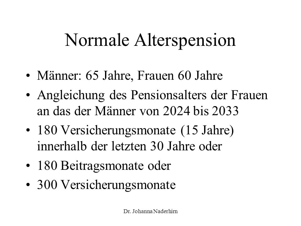 Normale Alterspension