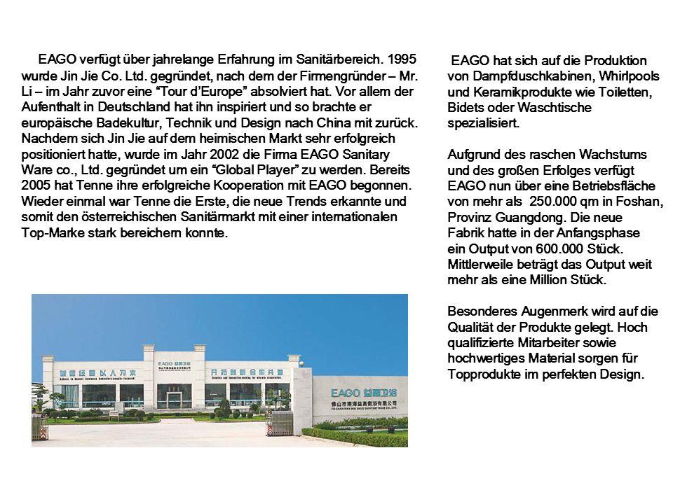 EAGO verfügt über jahrelange Erfahrung im Sanitärbereich
