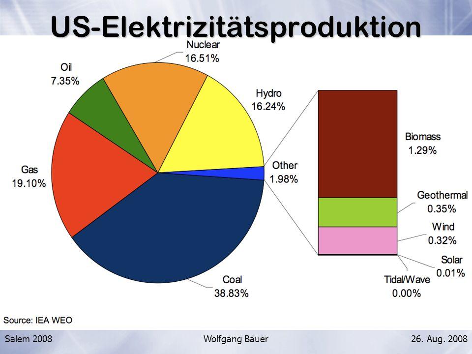 US-Elektrizitätsproduktion