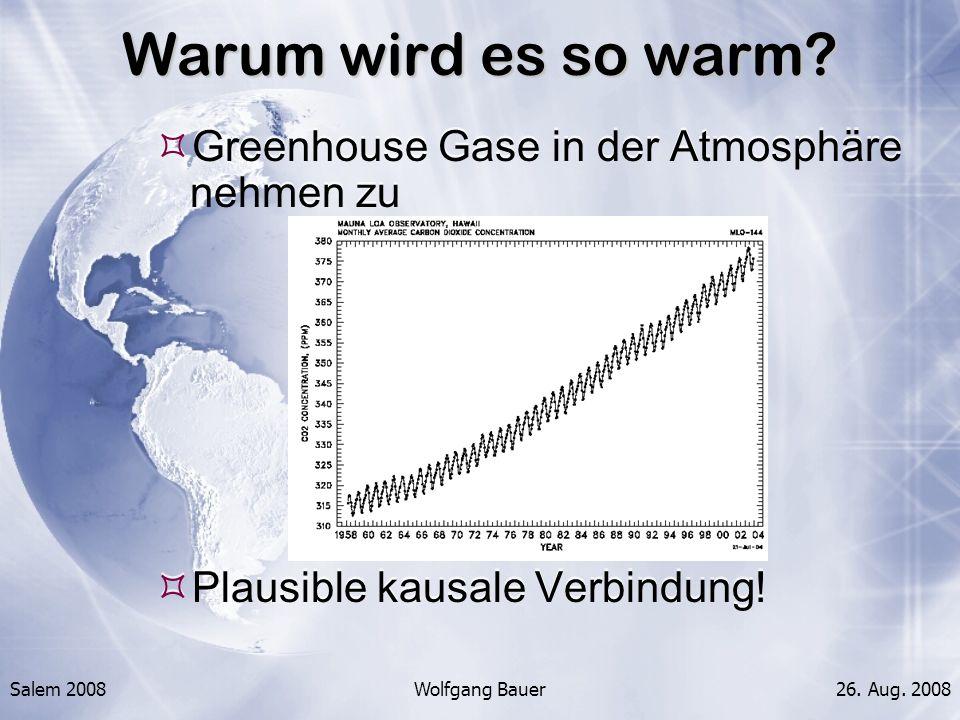 Warum wird es so warm Greenhouse Gase in der Atmosphäre nehmen zu