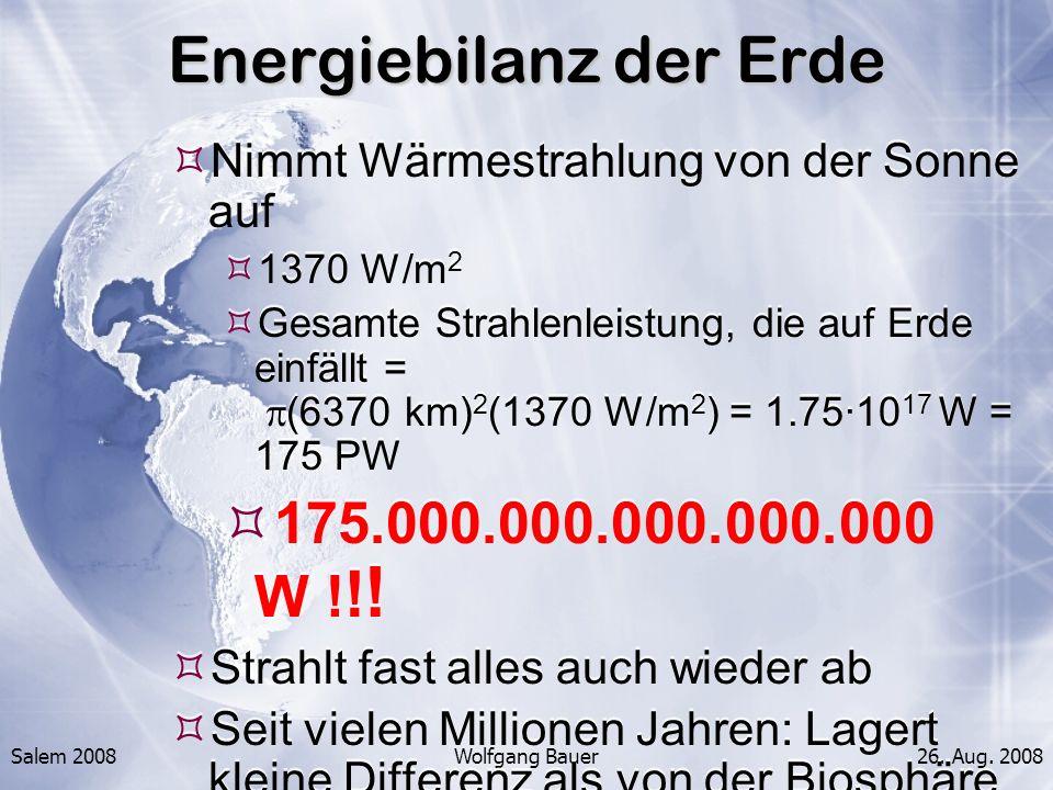 Energiebilanz der Erde