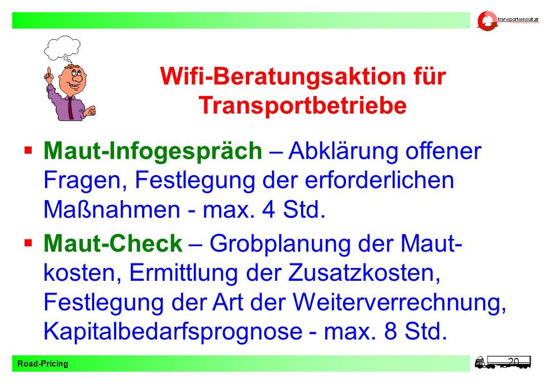 Wifi-Beratungsaktion für Transportbetriebe