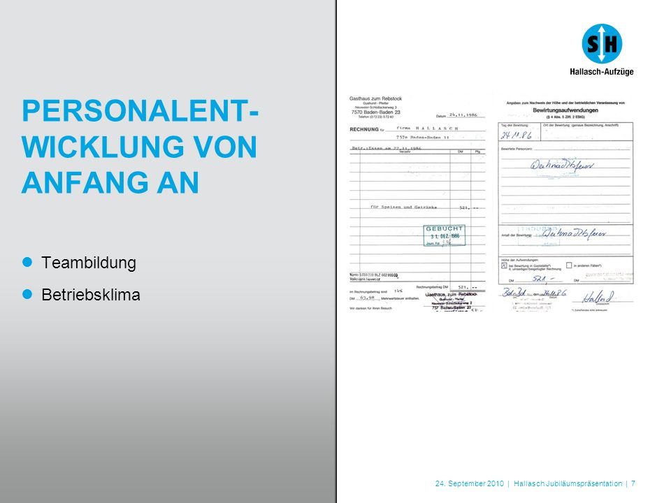 PERSONALENT-WICKLUNG VON ANFANG AN