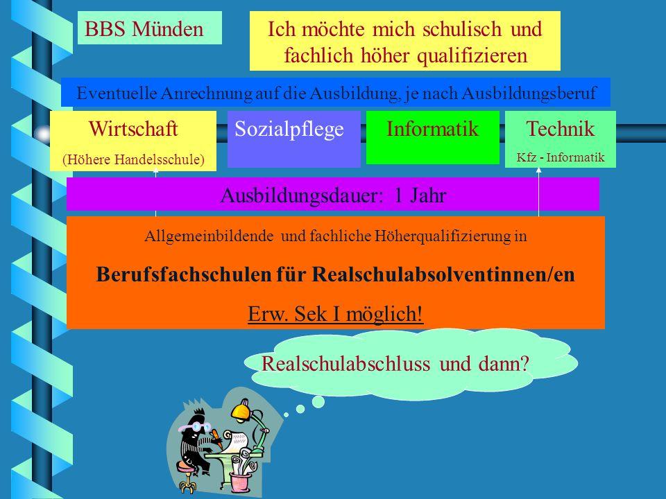 Berufsfachschulen für Realschulabsolventinnen/en