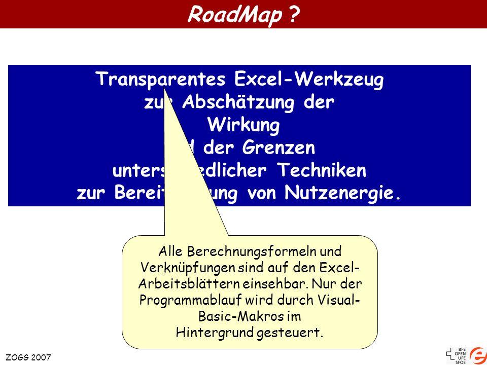 RoadMap Transparentes Excel-Werkzeug zur Abschätzung der Wirkung