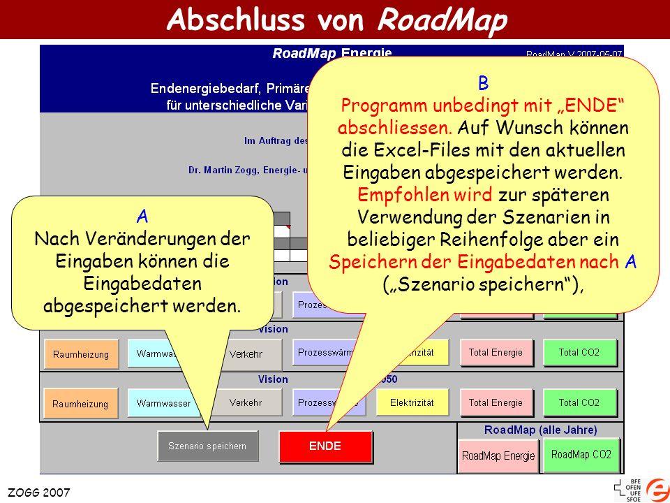 Abschluss von RoadMap B