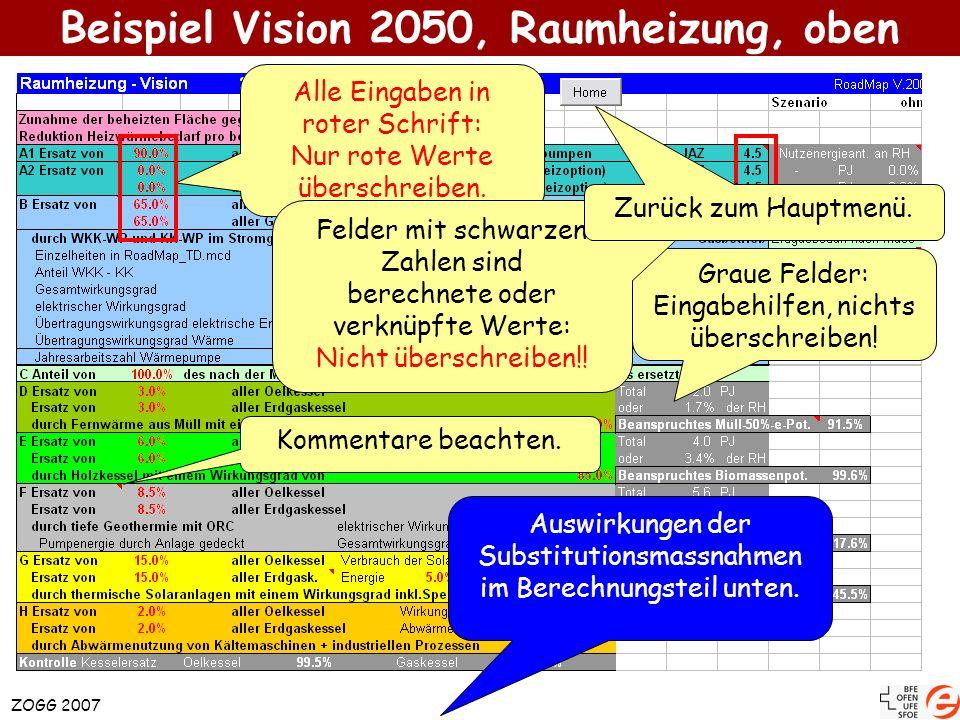Beispiel Vision 2050, Raumheizung, oben