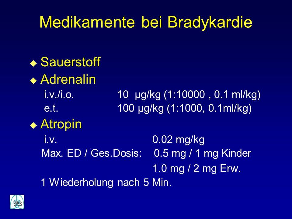 Medikamente bei Bradykardie